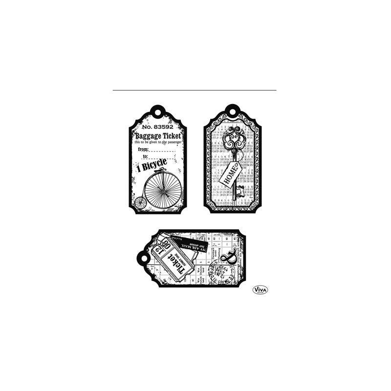 Set de Tampons Transparents Etiquettes Vélo