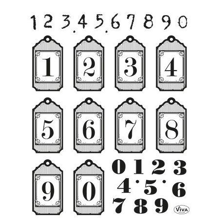 Set de Tampons Transparents Chiffres