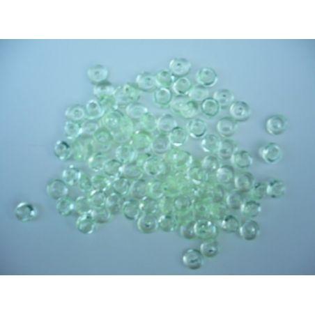Gouttes d'eau Acryliques Couleur Vert Clair (100 Pcs)*