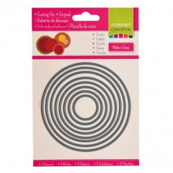 Die cut stencil Circles/Matrice de découpe Cercles-Ronds (8PC)