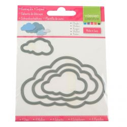 Die cut stencil Clouds...
