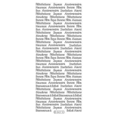 Peel Off Textes Couleur 507 Argent