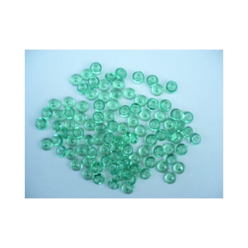 Gouttes d'eau Acryliques Couleur Vert Foncé (100 Pcs)*