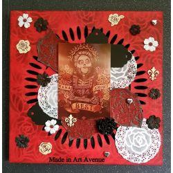 Embellissements en Bois Thème Roses (9pcs)