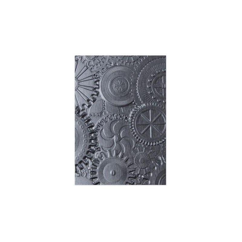 Sizzix Plaque Embossage 3D Tim Holtz Rouages