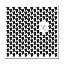 Plaque Embossage Multi Cœurs