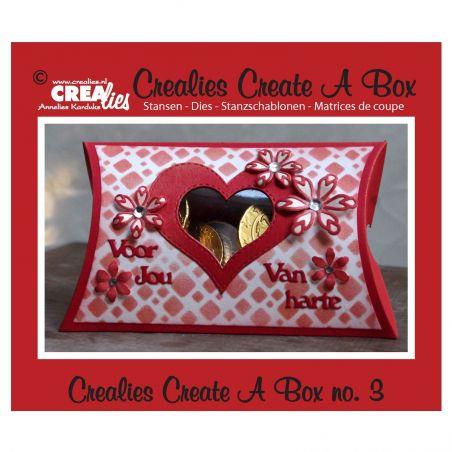 Crealies Dies Box n°3/Matrices de Découpe Boîte Coussin (2Pcs)