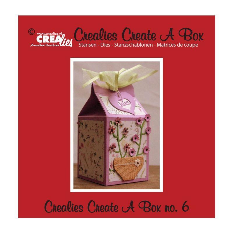 Crealies Dies Boîte Carton de Lait n°6