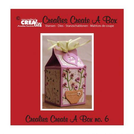 Crealies Dies Box n°6/Matrices de Découpe Boîte Carton de Lait (3Pcs)