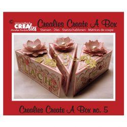 Crealies Dies Box n°5/Matrices de Découpe Boîte Tranche de Tarte (3Pcs)