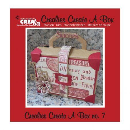 Crealies Dies Box n°7/Matrices de Découpe Boîte Valise (4Pcs)