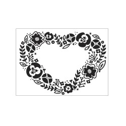Plaque Embossage Coeur Fleur