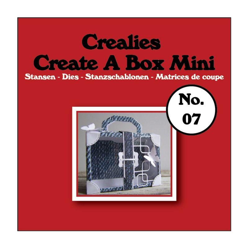 Crealies Dies Box Mini n°7/Matrices de Découpe Boîte Valise (4Pcs)