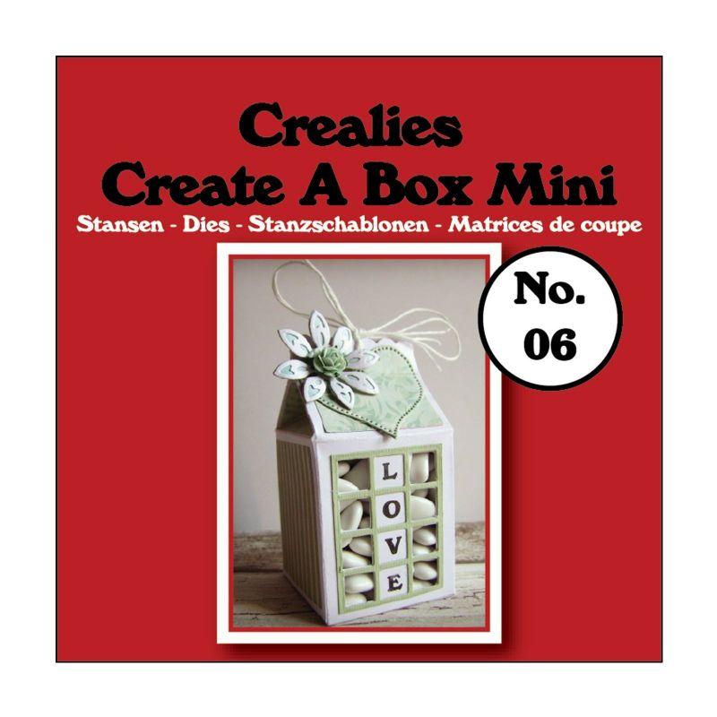 Crealies Dies Box Mini n°6/Matrices de Découpe Boîte Carton de Lait (3Pcs)