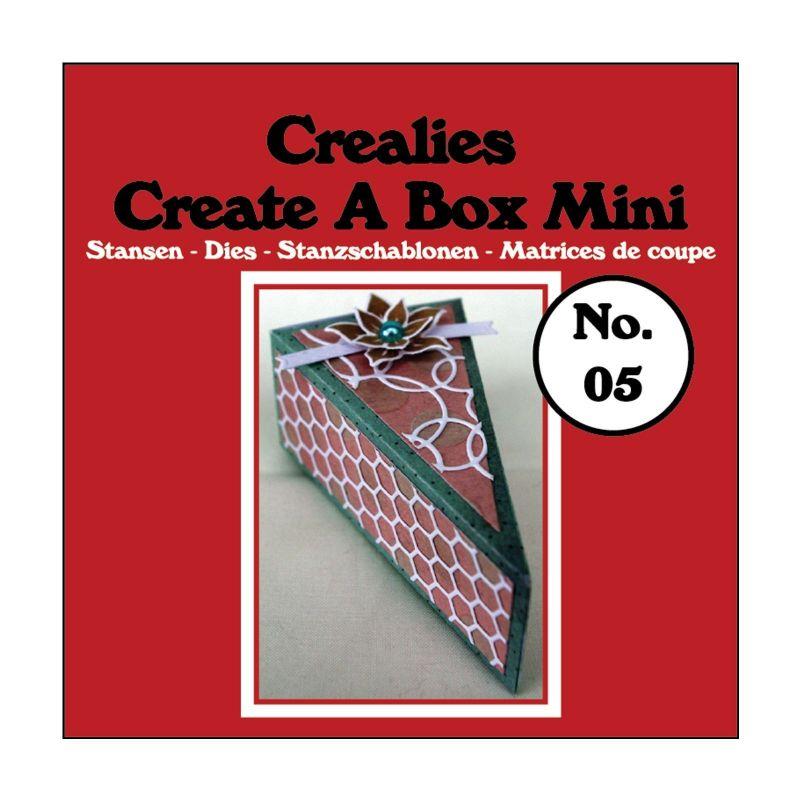 Crealies Dies Box Mini n°5/Matrices de Découpe Boîte Tranche de Tarte (3Pcs)
