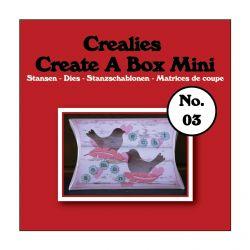 Crealies Dies Box Mini n°3/Matrices de Découpe Boîte Coussin (2 Pcs)