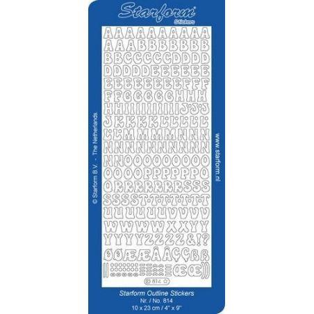 Peel Off Alphabet 814 Couleur Argent