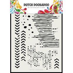 Dutch Doobadoo Pochoir Mask Art Grunge Mix