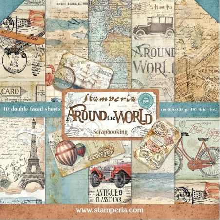 Kit Papiers Stamperia Around the World