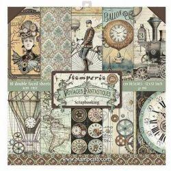 Kit Papiers Stamperia Voyages Fantastiques