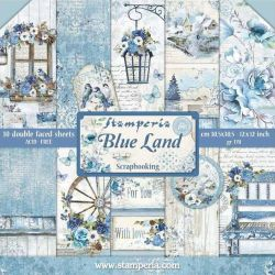 Kit Papiers Stamperia Blue Land