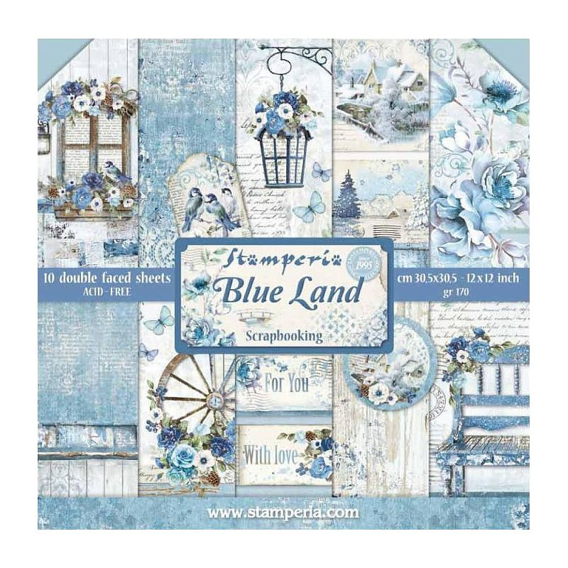 Kit Papiers Stamperia Blue Land