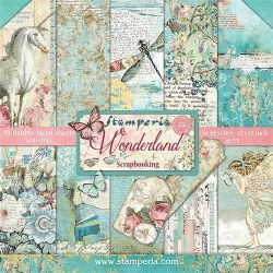 Kit Papiers Stamperia Wonderland