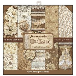 Kit Papiers Stamperia Old Lace