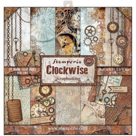 Kit Papiers Stamperia Clockwise