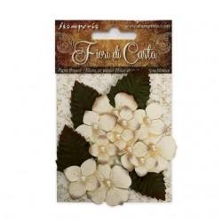 Fleurs en Papier Ivory with...