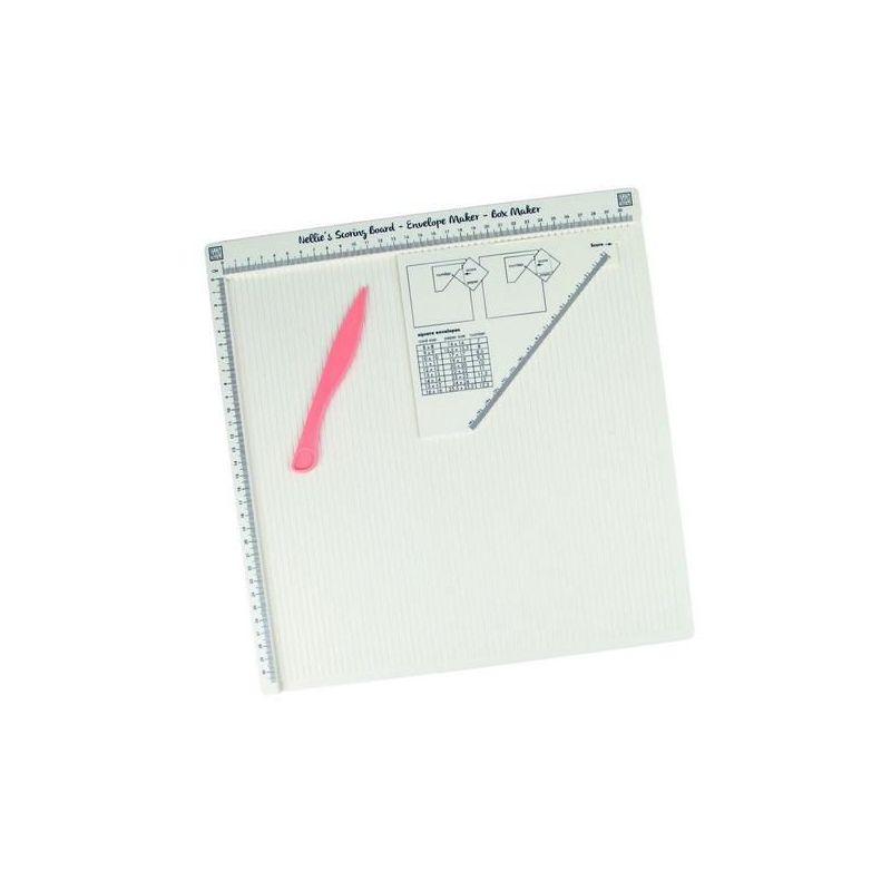 Scoring Board Plateau de Traçage en cm (30,8 cm x 30,8 cm) avec Plioir et Règle Triangulaire