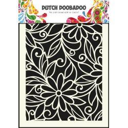Dutch Doobadoo Pochoir Mask Art Fleur Arabesque