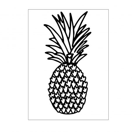 Plaque Embossage Ananas