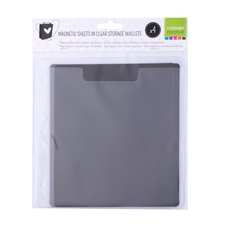 Feuilles Magnétiques dans Chemises en Plastique Transparent (4 PC)