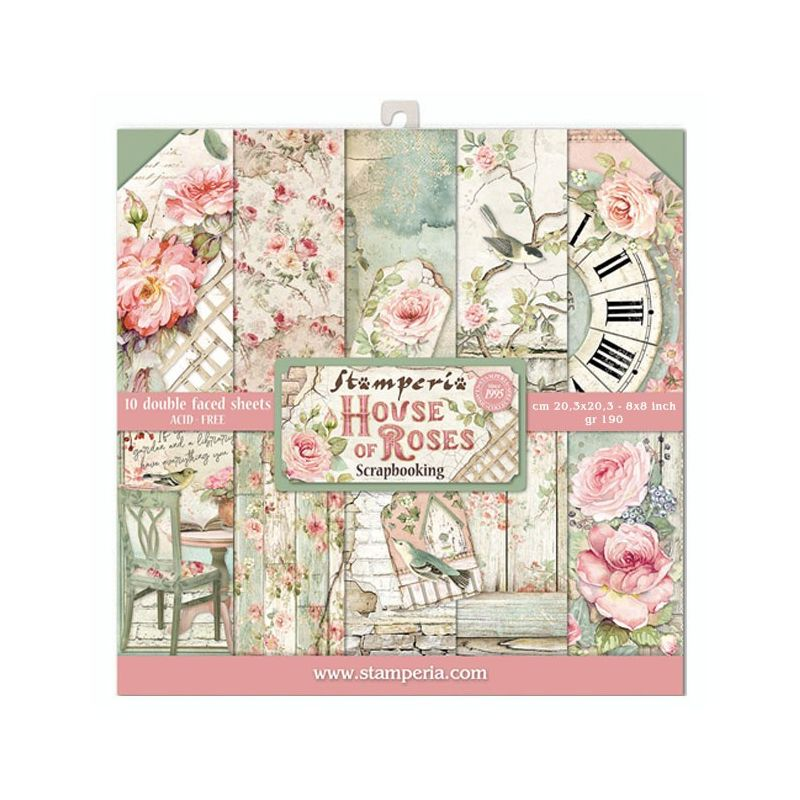 Kit Papiers Stamperia House of Roses