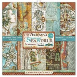 Kit Papiers Stamperia Sea World