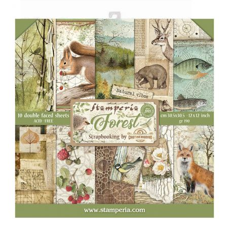 Kit Papiers Stamperia Forest