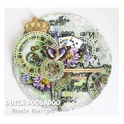 Dutch Doobadoo Pochoir Mask Art Horloge Grunge