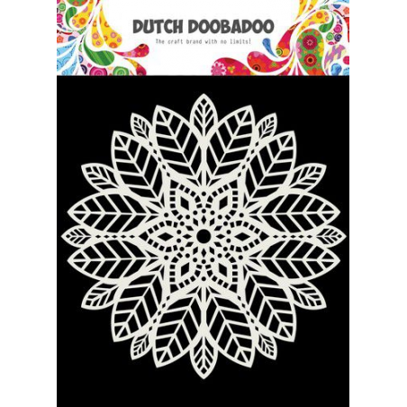 Pochoir Mask Art Mandala Feuilles