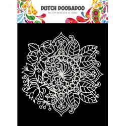 Pochoir Mask Art Mandala avec Fleurs