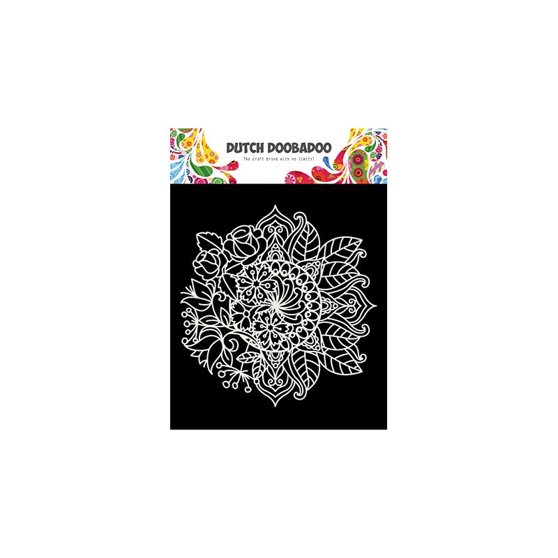 Dutch Doobadoo Pochoir Mask Art Mandala avec Fleurs