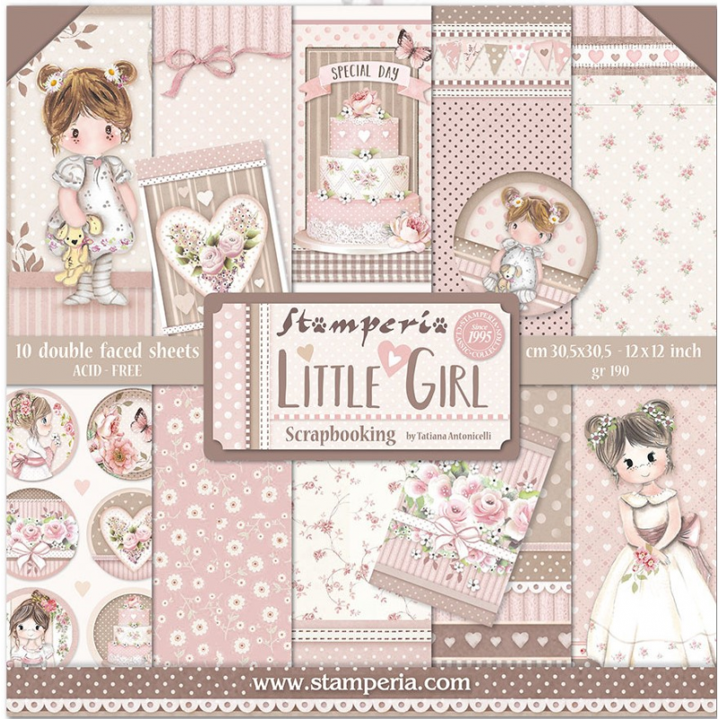 Kit Papiers Stamperia Little Girl