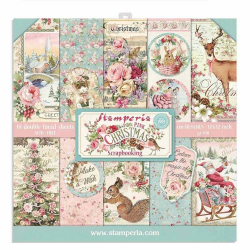 Kit Papiers Stamperia Pink Christmas