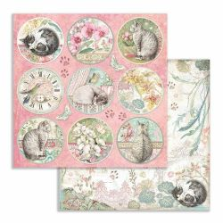 Kit Papiers Stamperia Orchids and Cats