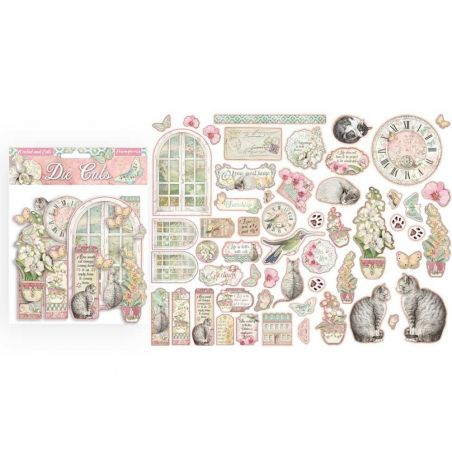 Die Cuts Stamperia Orchids and Cats