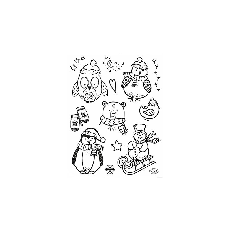 Set de Tampons Transparents Little Winter Friends