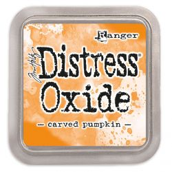 Distress oxide ink pad Carved pumpkin