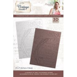 Crafter'sCompanion Plaque Embossage 3D Vintage Diary